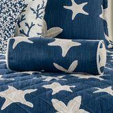 Palm Beach Piped Pillow Dark Blue Neckroll