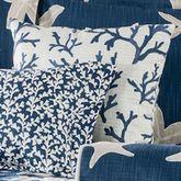 Palm Beach Tailored Pillow Dark Blue 18 Square