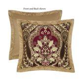 Julius Reversible Flanged Pillow Multi Warm 20 Square
