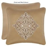Julius Reversible Embroidered Pillow Multi Warm 18 Square