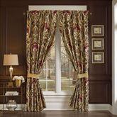 Julius Damask Lined Curtain Pair Multi Warm 82 x 84