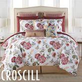 Fleur Comforter Set Burgundy