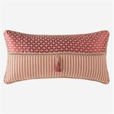 Fleur Pieced Piped Pillow Claret Rectangle