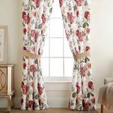 Fleur Tailored Curtain Pair Burgundy 82 x 84
