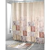 Serenity Shower Curtain Multi Warm 72 x 72