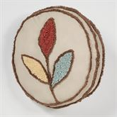Bountiful Leaves Round Pillow Multi Warm Round