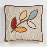 Bountiful Leaves Square Pillow Multi Warm 18 Square