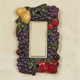Tuscan Fruit Single Dimmer Rocker Multi Jewel