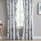 Garden Images Blue Tailored Curtain Pair 84 x 84