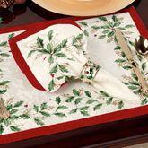 Lenox Holiday Holly Napkins Ivory Set of Four