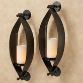 Xander Wall Sconce Pair Black