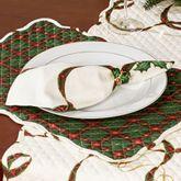 Lenox Holiday Nouveau Napkin Set Light Cream Set of Four