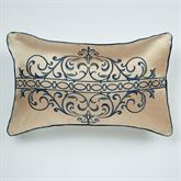Buckingham Piped Rectangle Pillow Antique Gold