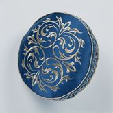 Buckingham Piped Pillow Sapphire Round
