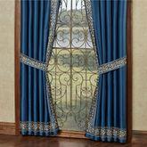 Buckingham Tailored Curtain Pair Sapphire