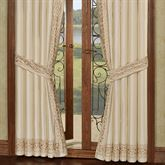 Versailles Tailored Curtain Pair Pearl