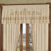 Versailles Tailored Valance Pearl 72 x 20