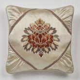 Geneva Embroidered Pillow Champagne 18 Square
