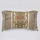 Geneva Bead Tassel Pieced Pillow Champagne Rectangle