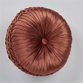 Geneva Pleated Tufted Pillow Sienna Round