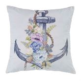 Bleached Boardwalk Anchor Pillow Off White 18 Square