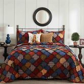 Blue Ridge Patchwork Mini Quilt Set Multi Warm