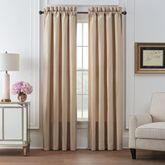 Olann Wide Tailored Curtain Pair Almond 100 x 84