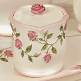 Bridal Rose Covered Jar Blush