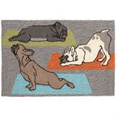Yoga Dogs Rectangle Mat Gray