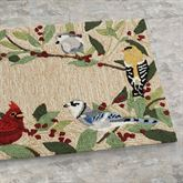 Bird Border Runner Mat Multi Bright 2 x 5
