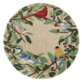 Bird Border Round Mat Multi Bright 3 Round