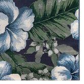 Floral Navy Rug Runner 111 x 76