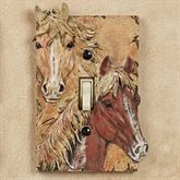 Horses Single Switch Brown