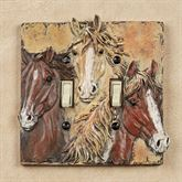 Horses Double Switch Brown