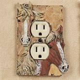 Horses Single Outlet Brown