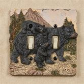 Bears in Mountain Double Switch Black