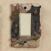 Bears in Mountain Single Dimmer Rocker Black