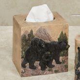 Bears in Mountain Tissue Cover Black