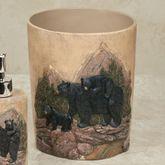 Bears in Mountain Wastebasket Black