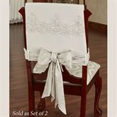 Evangelina Chair Covers Ivory Set of Two