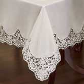 Evangelina Oblong Tablecloth Ivory