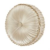 Blossom Reversible Tufted Pillow Pearl Round