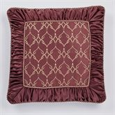 Laurelton European Pillow with Sham Wine