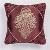 Laurelton Embroidered Pillow Wine 18 Square