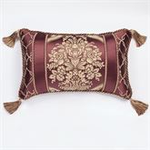 Laurelton Tasseled Pillow Wine Rectangle