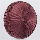 Laurelton Pleated Tufted Pillow Wine Round