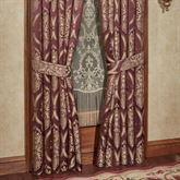 Laurelton Wide Tailored Curtain Pair Wine
