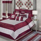 Sigma Comforter Set Burgundy
