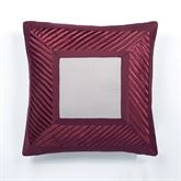 Sigma Tailored Pillow Burgundy 20 Square