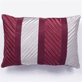 Sigma Pleated Pillow Burgundy Rectangle